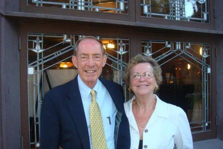 Architect Gaines and wife Sharon Hall, restorers of the B. Harley Bradley House
