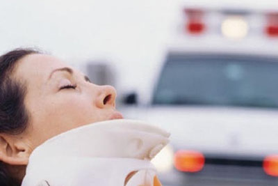 woman in an accident