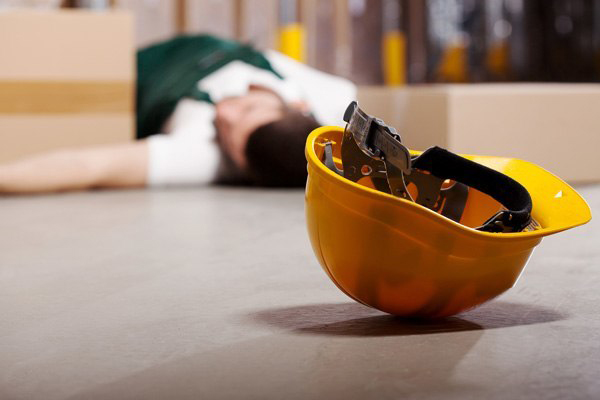 employee who has fallen and is injured