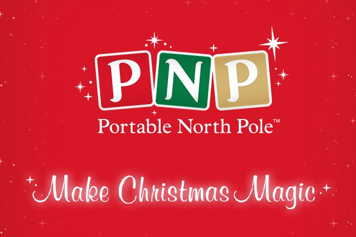 Portable North Pole. Get a personalized video from Santa.