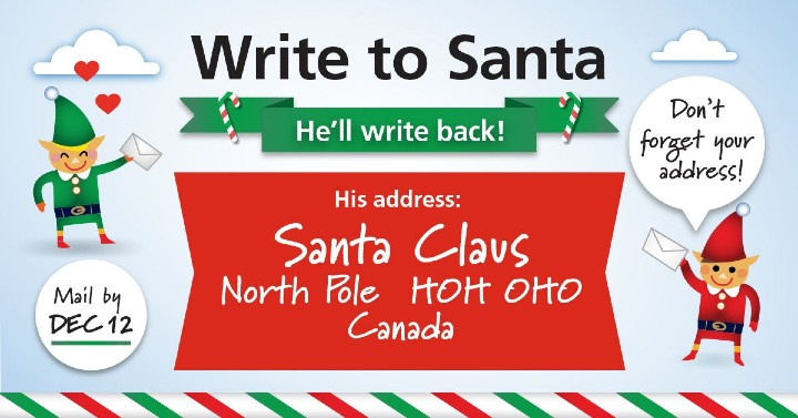 Write Santa by December 12th and get a reply in time for Christmas.