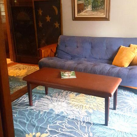 Robin's Nest | 1922 Starkey House B&B Inn couch | Finger Lakes, New York