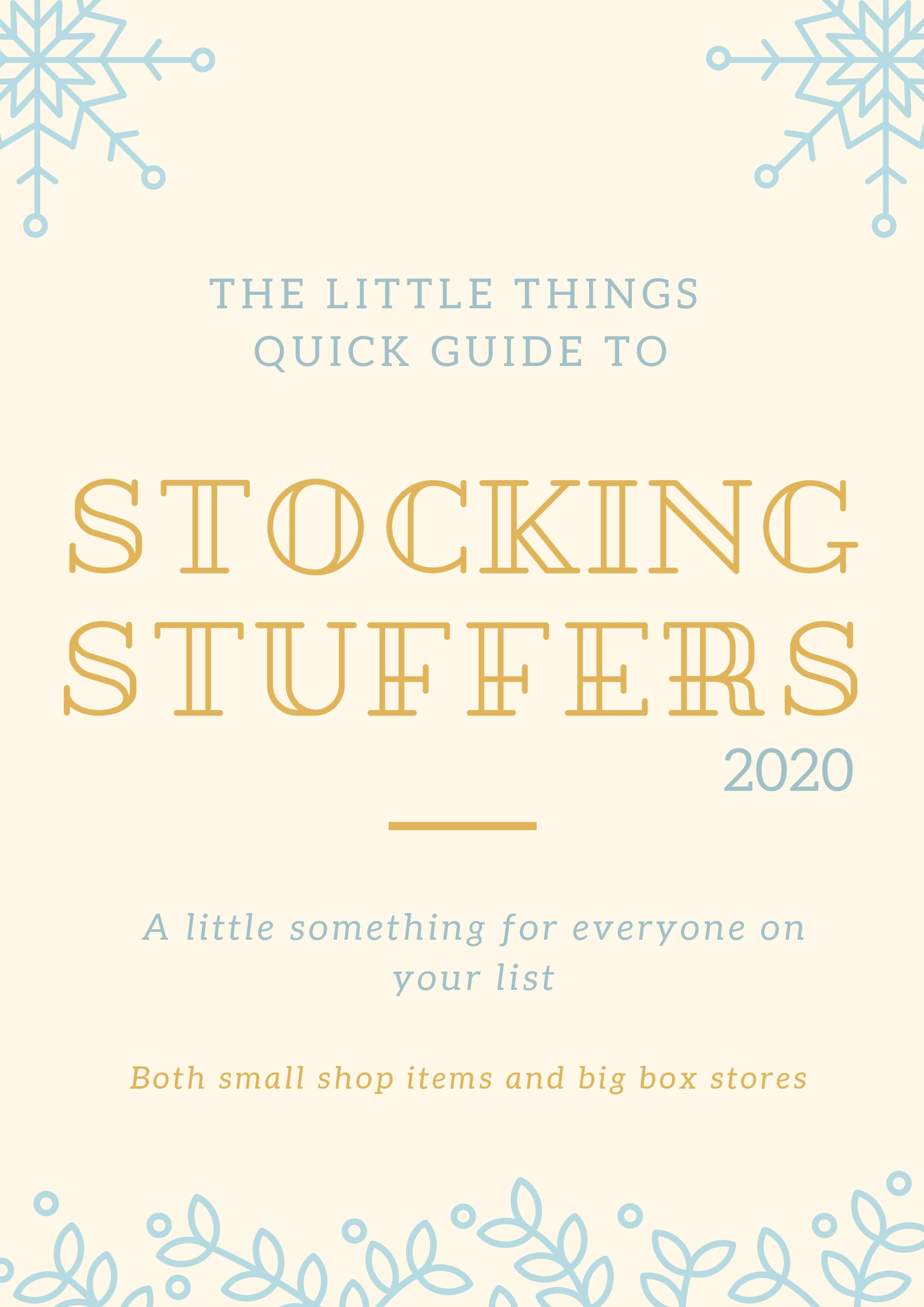 An Easy Guide For Stocking Stuffers
