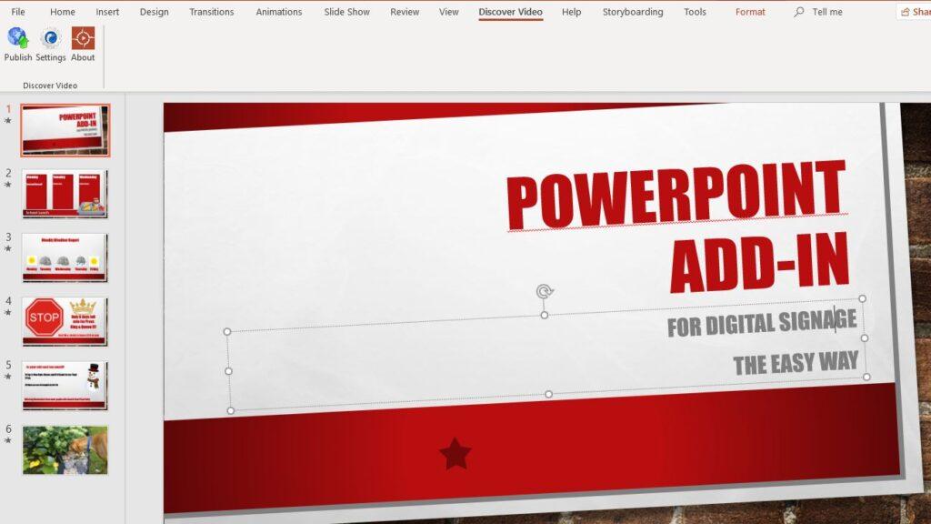PowerPoint Plugin for Custom Digital Signage
