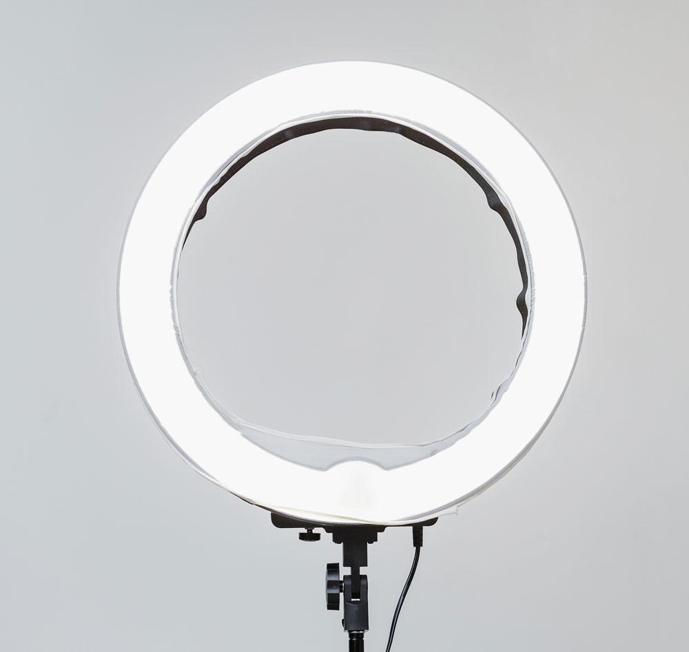 LED Light Ring for Bright Even Video Lighting
