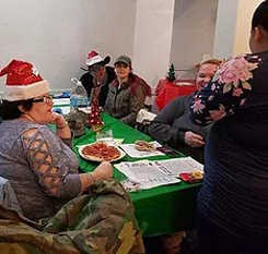 christmas pizza party square