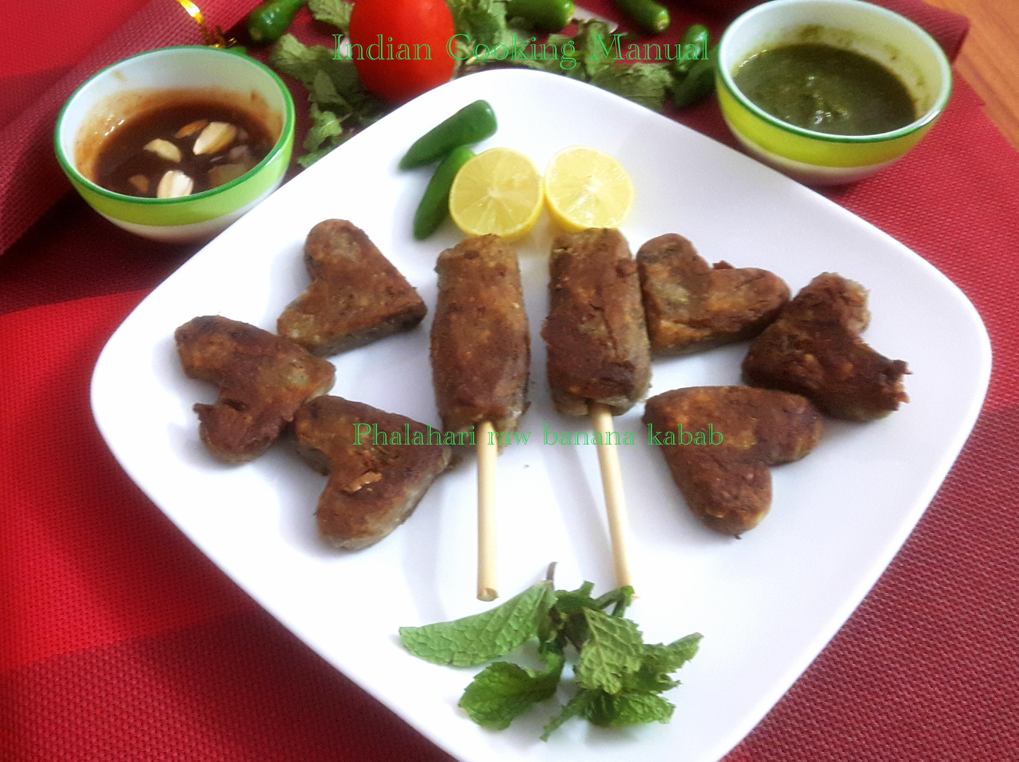 Phalahari raw banana kabab