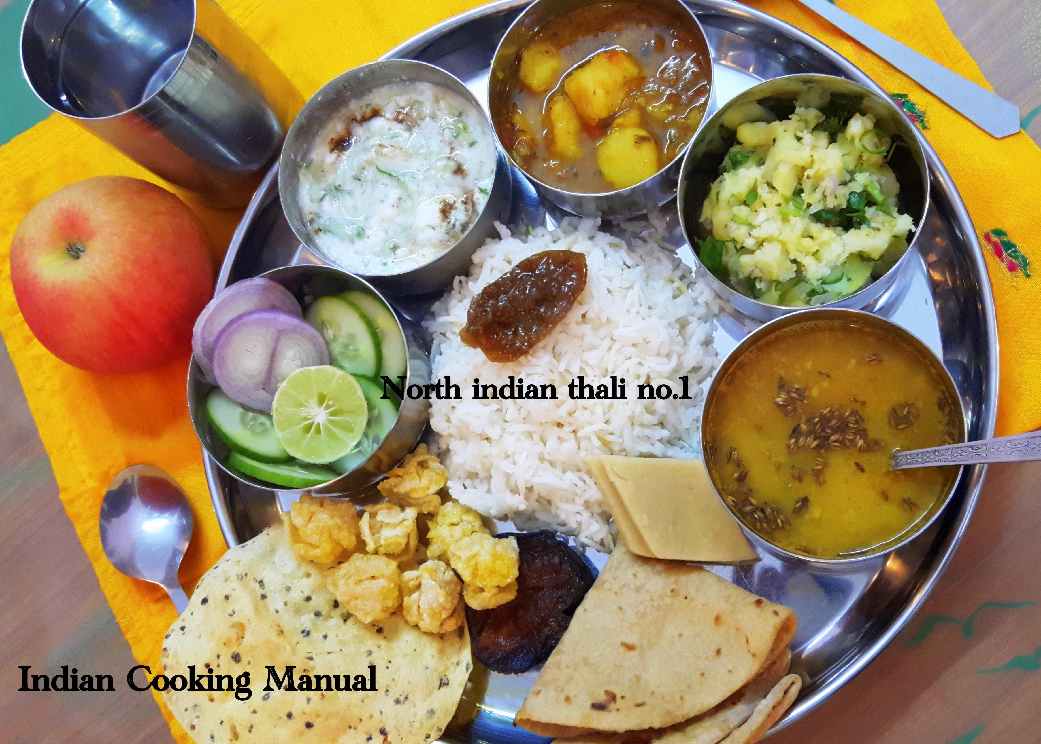 North Indian Thali no. 1