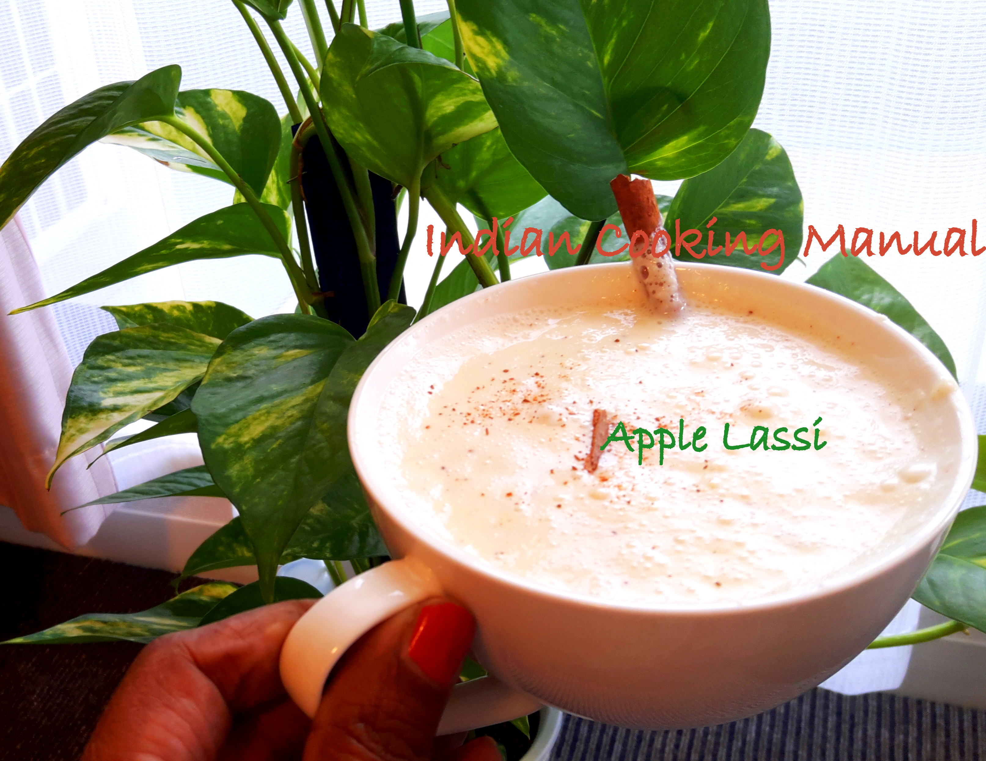 Apple Lassi (curd/yogurt based drink)