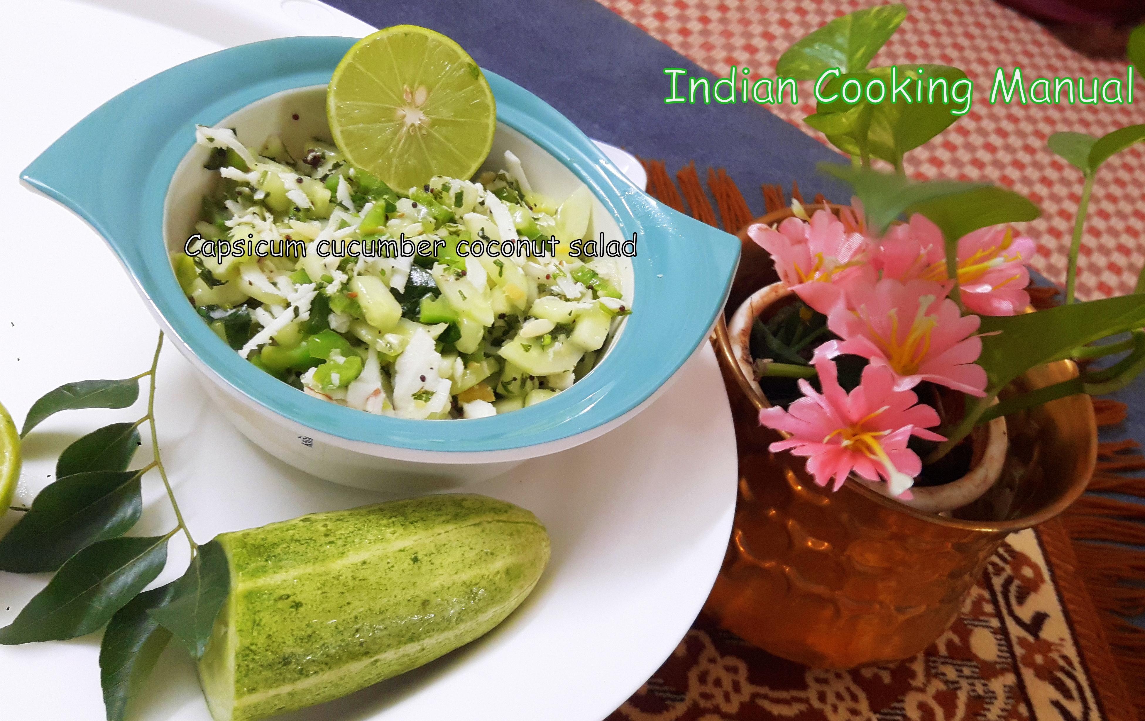Capsicum-Cucumber-Coconut Salad
