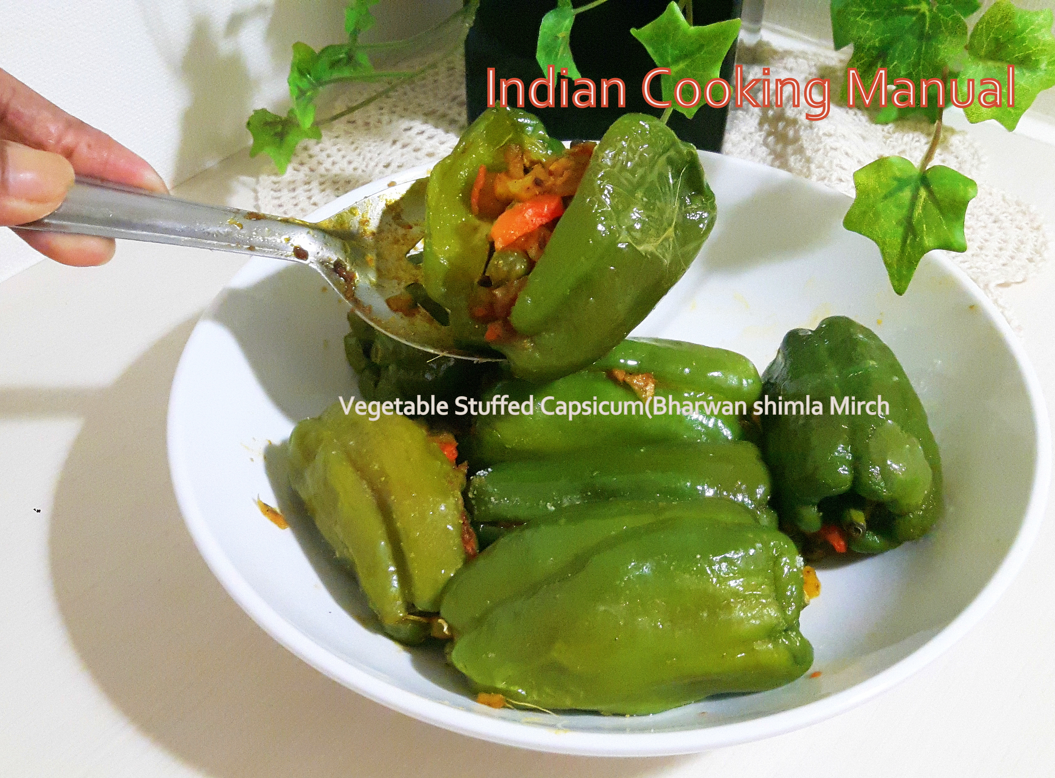 Vegetable Stuffed Capsicum (Bharwan Shimla Mirch)