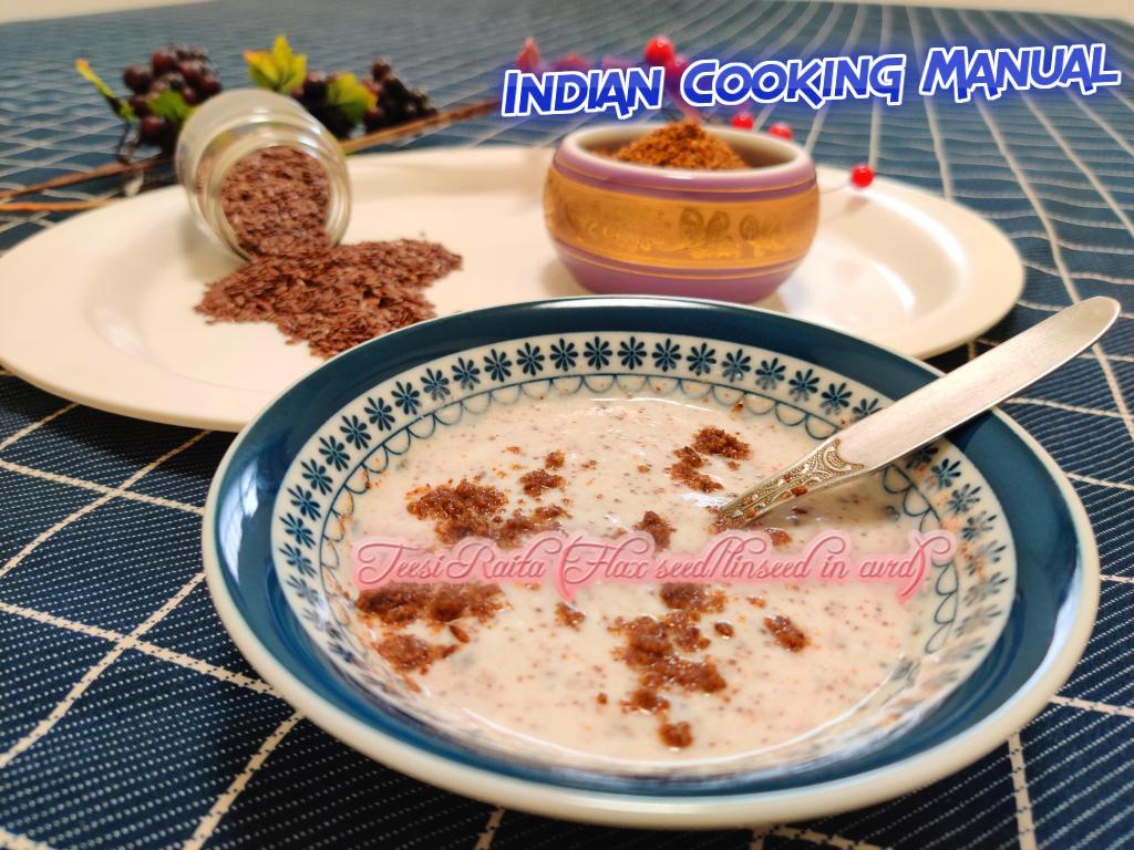 Teesi Raita (Flax seed/linseed in curd)