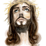 Jesus Watercolor 9by12