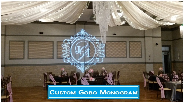 Custom Gobo Monogram, Houston DJ, DJs in Houston, Wedding, Quinceanera, Corporate, Company