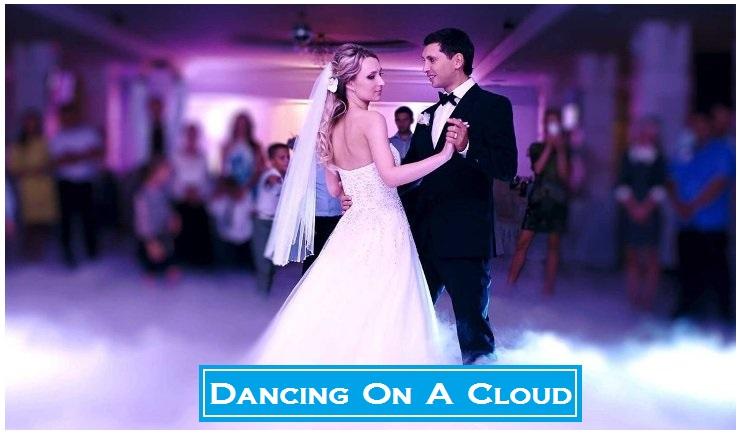Houston Wedidng DJ, Houston DJ, DJs in Houston, Dancing On A Cloud, Bride and Groom, First Dance, Chauvet Nimbus