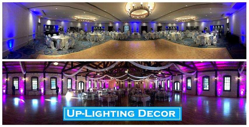 Houston Lighting Decor, Up Lighting, Up-lighting, uplighting, LED, Houston DJ, Houston Wedding DJ, Houston Quinceanera DJ, Houston Sweet 16 DJ