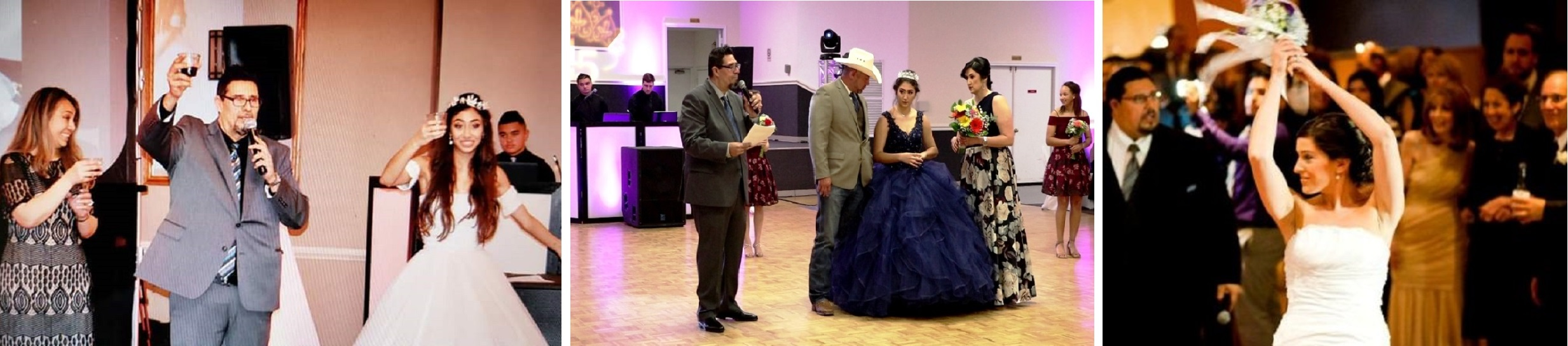 Houston Wedding DJ, Wedding DJs in Houston, Bilingual Master of Ceremony, Latino Master of Ceremony, Spanish Master of Ceremony, Hispanic Master of Ceremony, Sonido, DJ Sammy de Houston, Awesome Event Pros, Awesome Music Entertainment, AME Djs, Maestro de Ceremonia, Boda, Quinceañera