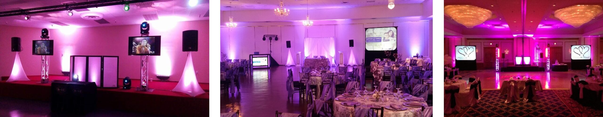 Houston Weddings, Weddings in Houston, Houston Audio Visual, Video Projection, Rear Screen Projection, Flat Screen TVs, Up lights, Awesome Music Entertainment, Awesome Event Pros, Awesome Lighting Decor, AME DJs, Sonido DJ Sammy de Houston