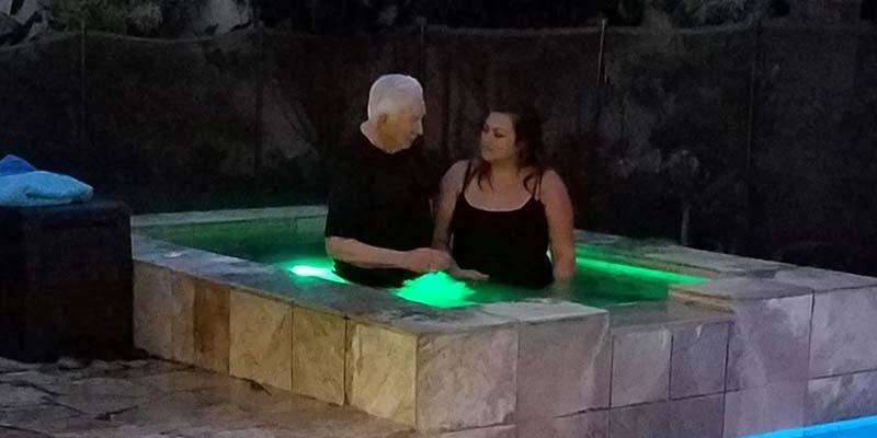 A Baptism in Progress
