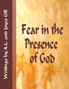 Cover - Fear in the Presence of God