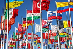 Flags-on-home