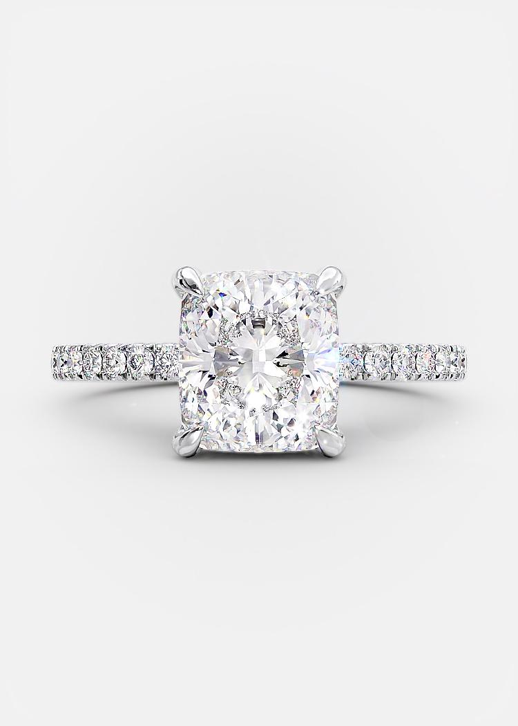 brilliant cushion cut diamond