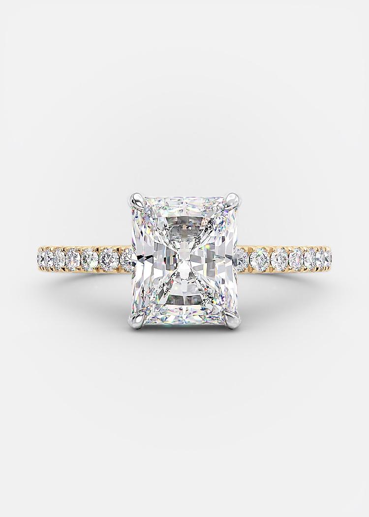 2.01 carat radiant shaped diamond