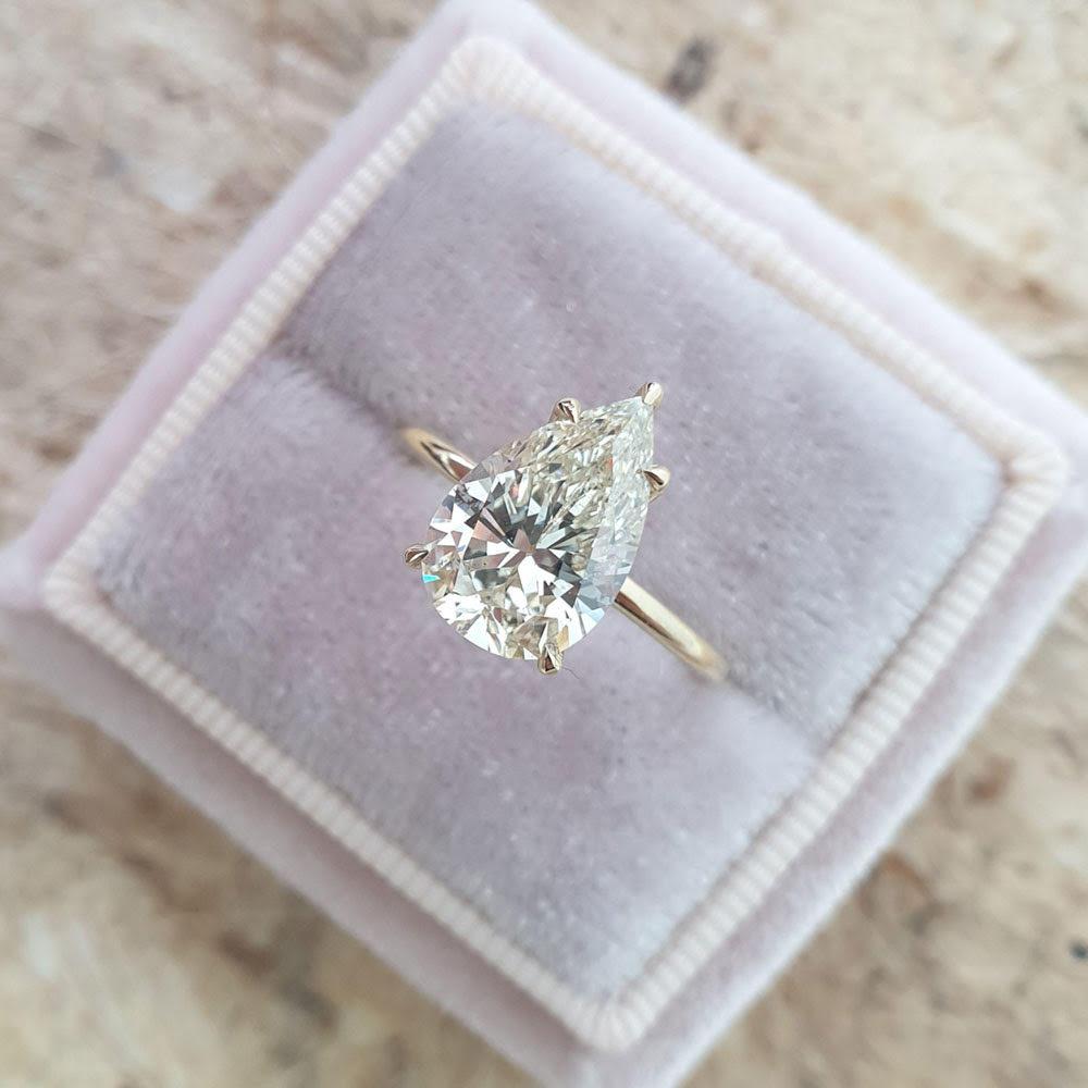 3 carat pear diamond