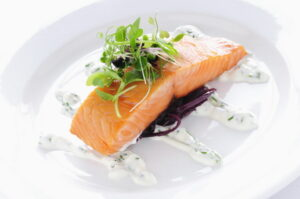 Salmon on a dish
