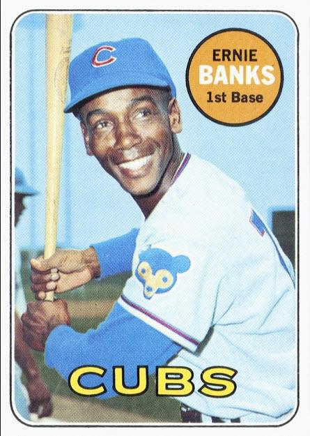 Ernie Banks baseball card image