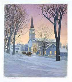 Christmas – Butcher – View of Church in Winter GXB10656 © Wind River Studios