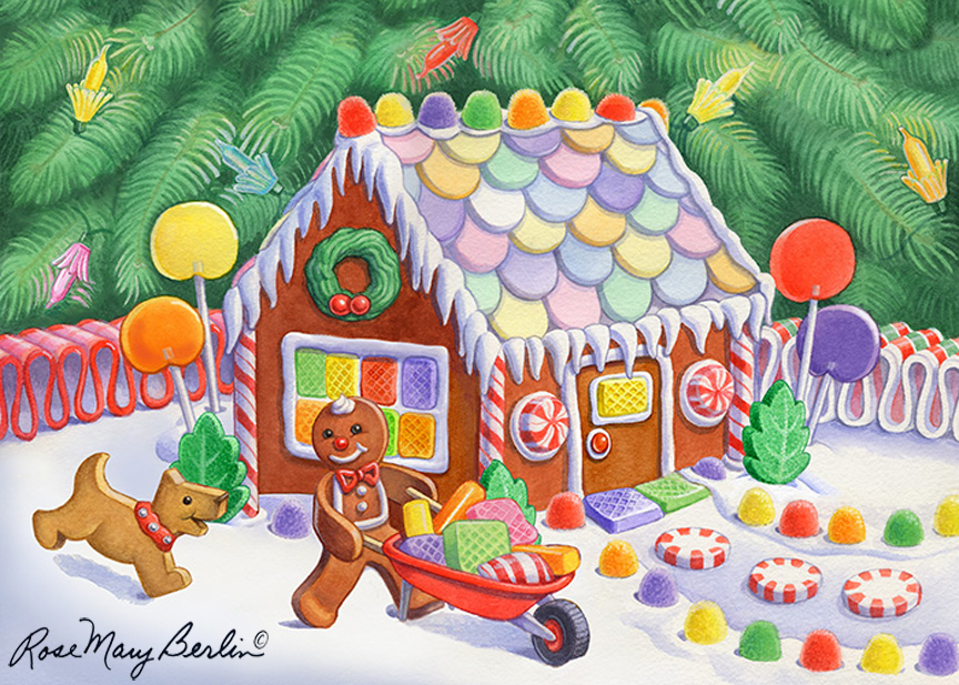 Christmas – Gingerbread House by Rose Mary Berlin
