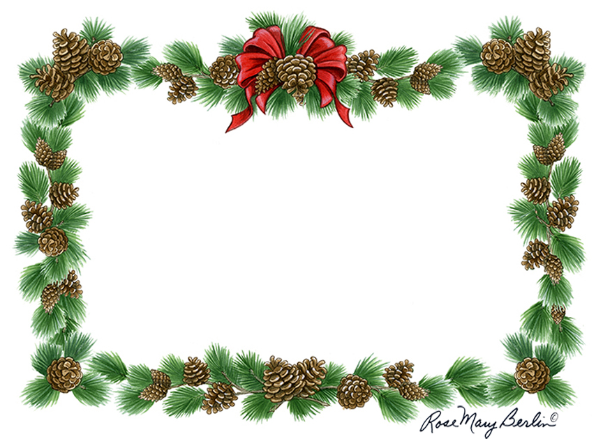 Christmas – Pine Bough Border by Rose Mary Berlin