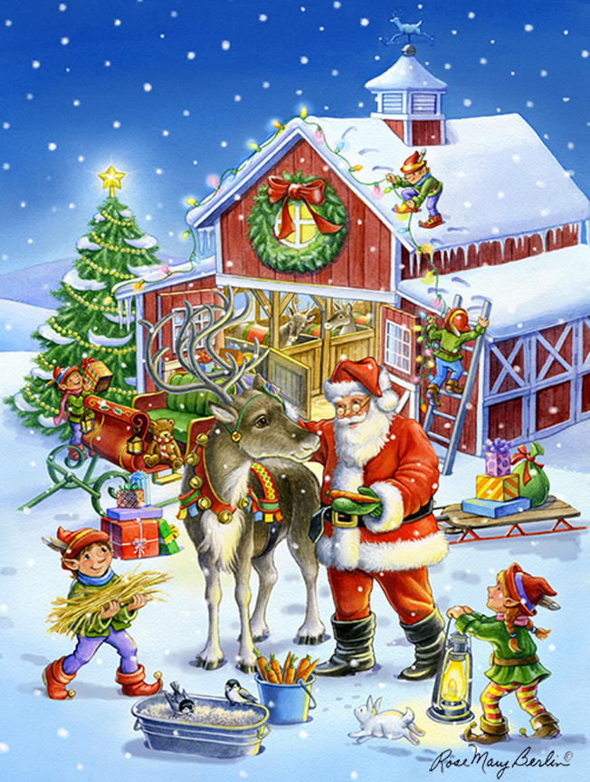 Christmas – Ready Rudolph by Rose Mary Berlin