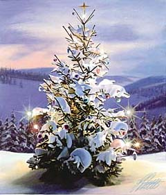 Christmas – Little – Christmas Tree in Mountains GXB12741 © Wind River Studios