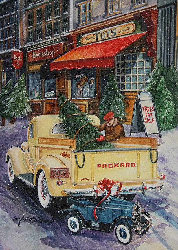 Christmas – Loading the Truck by Angela Trotta Thomas