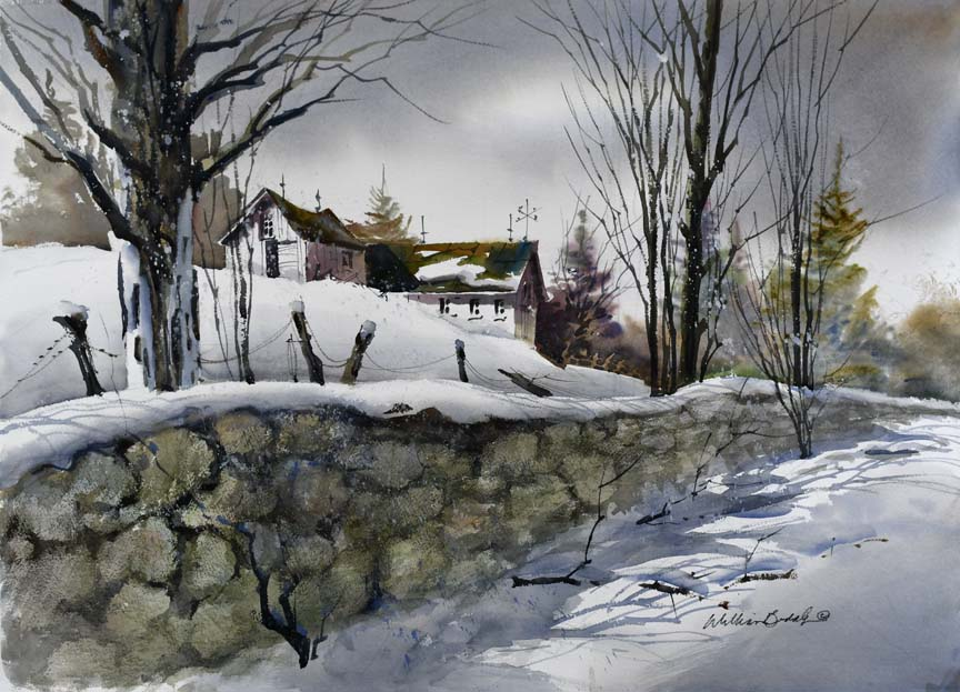 Winter Fence 7047 by William Biddle
