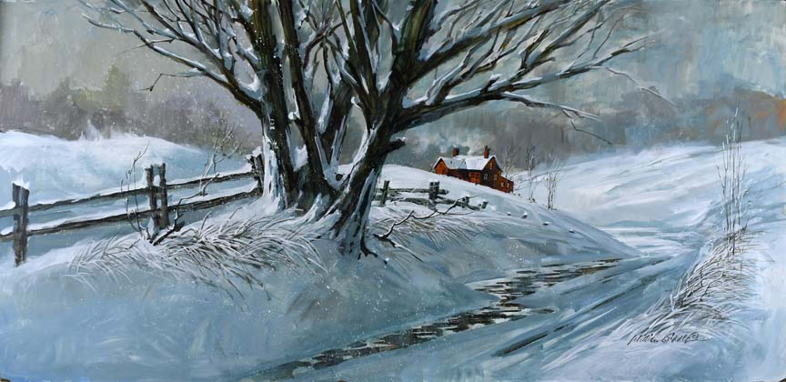 Winter in the Country 6846 by William Biddle