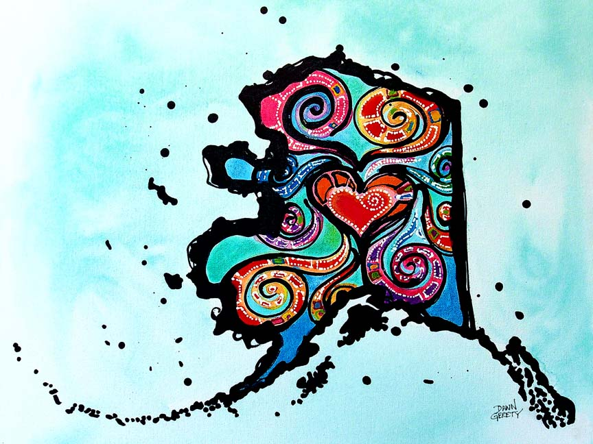 Shapes – Alaska Love © Dawn Gerety