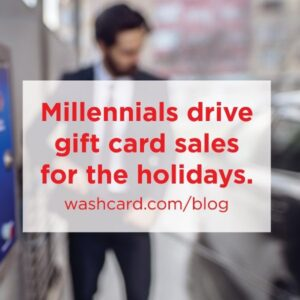 Millenials drive gift card sales
