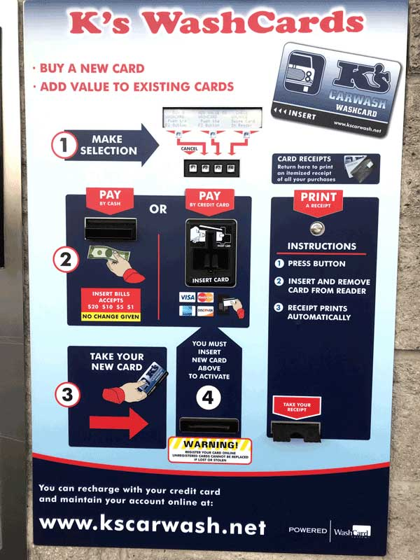 loyalty card dispenser and recharger for car washes