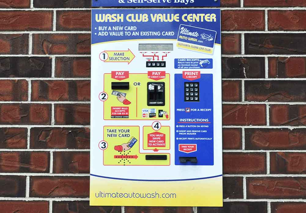 Car Wash Loyalty Card Dispenser