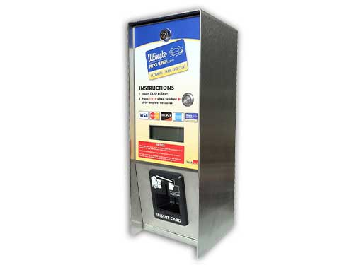 self service payment terminal for credit card and loyalty card