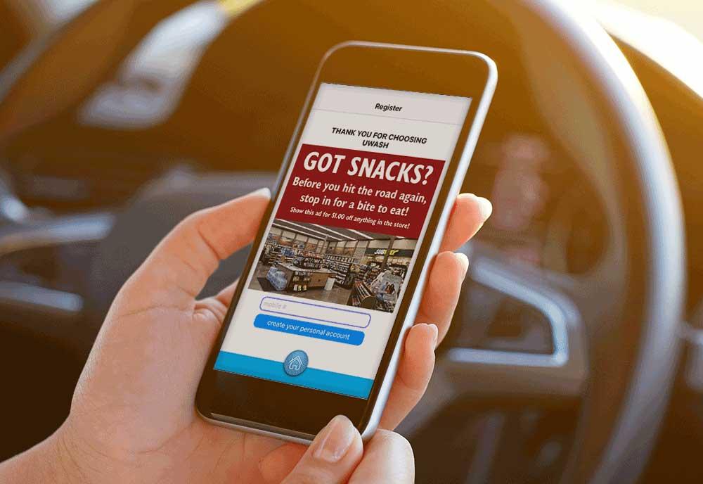 uwash app for car wash advertising
