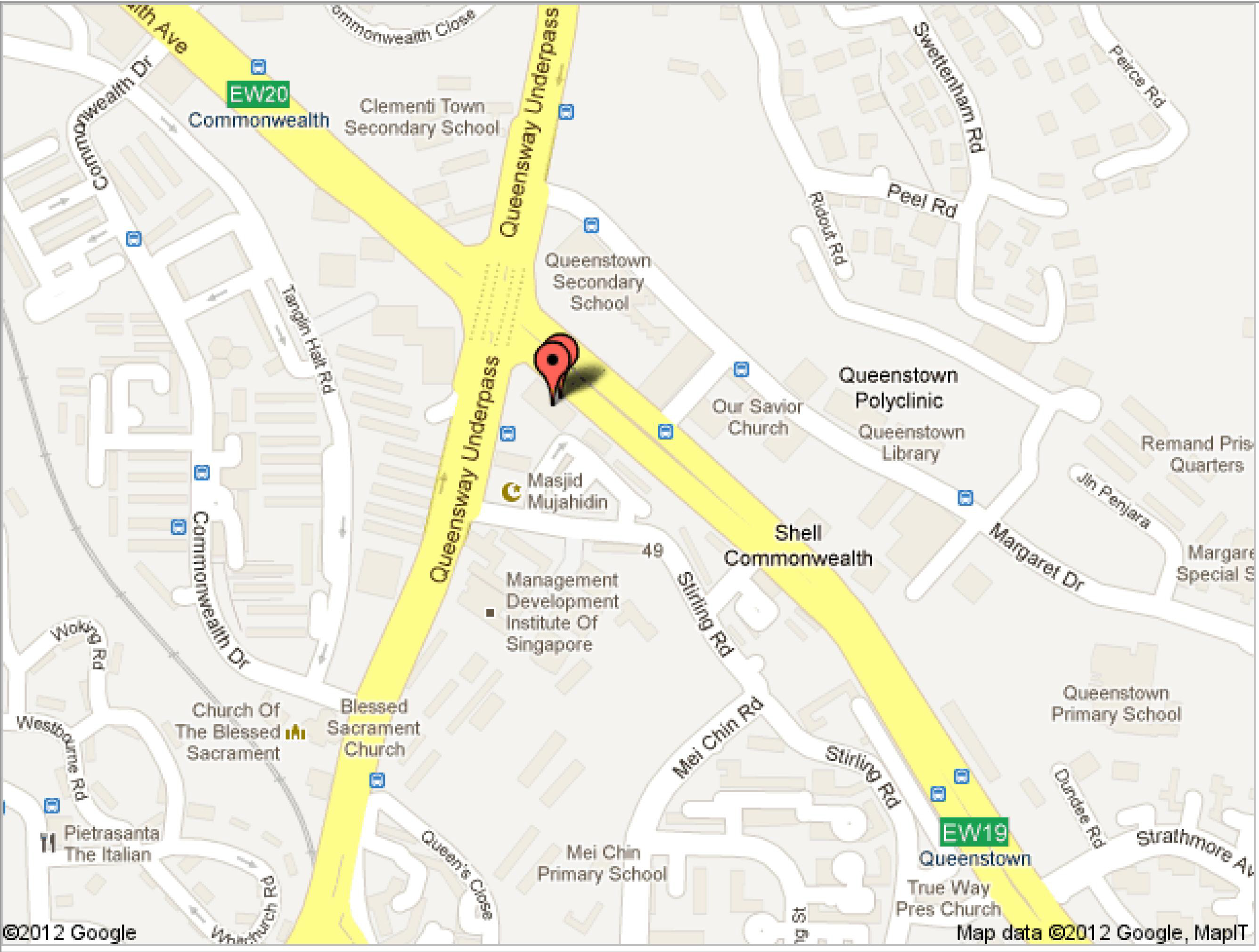 Map of Queenstown Toastmasters Club
