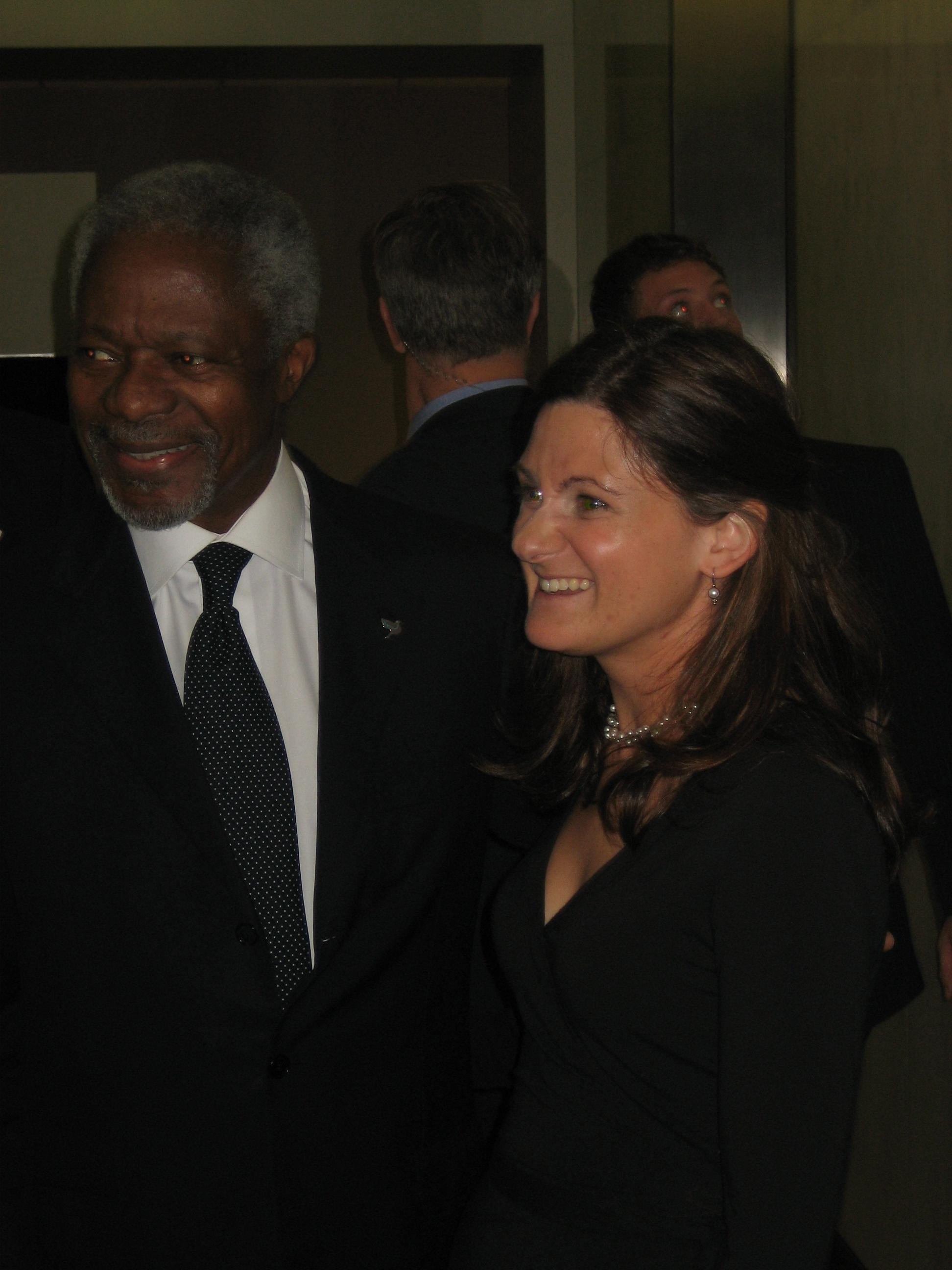 United Nations Secretary General Kofi Annan Emily Manning