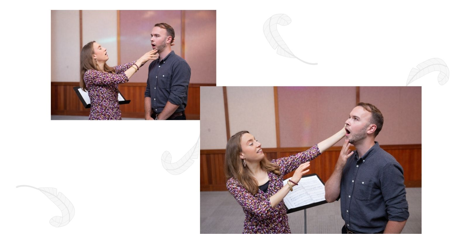 voice-teacher-demonstrating-functional-movement-in-singing-with-student-in-Albany