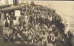 Deck of Presidente Wilson 1923