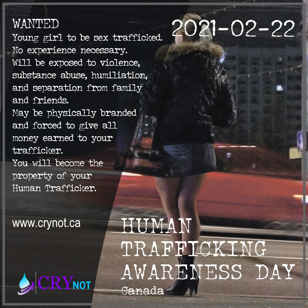 Human Trafficking Awareness Day is February 22