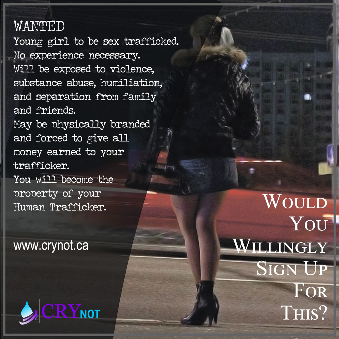 Wanted Ad for Victims of Sex Trafficking